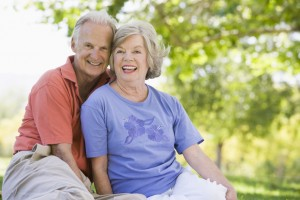medicare supplement plans - couple in park